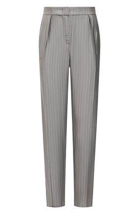 Женские брюки из вискозы EMPORIO ARMANI серого цвета, арт. ANP22T/A2103 | Фото 1