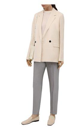Женские брюки из вискозы EMPORIO ARMANI серого цвета, арт. ANP22T/A2103 | Фото 2
