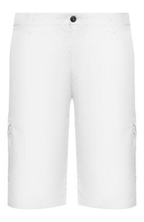 Мужские хлопковые шорты PAUL&SHARK белого цвета, арт. 21414003/E7A/62-64 | Фото 1 (Материал внешний: Хлопок; Длина Шорты М: Ниже колена; Принт: Без принта; Мужское Кросс-КТ: Шорты-одежда)