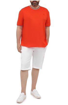 Мужские хлопковые шорты PAUL&SHARK белого цвета, арт. 21414003/E7A/62-64 | Фото 2 (Материал внешний: Хлопок; Длина Шорты М: Ниже колена; Принт: Без принта; Мужское Кросс-КТ: Шорты-одежда)