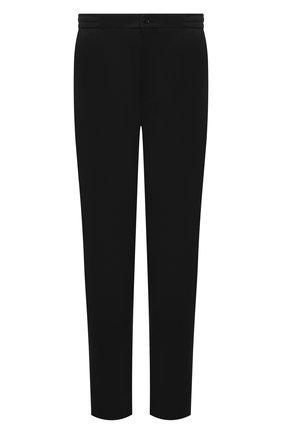 Мужские шерстяные брюки MARCO PESCAROLO черного цвета, арт. CHIAIAM/4328 | Фото 1 (Материал внешний: Шерсть; Случай: Повседневный; Длина (брюки, джинсы): Стандартные; Big sizes: Big Sizes)