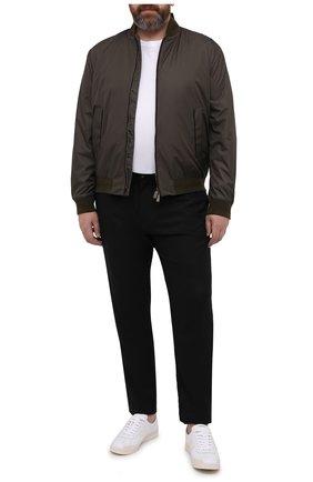 Мужские шерстяные брюки MARCO PESCAROLO черного цвета, арт. CHIAIAM/4328 | Фото 2 (Материал внешний: Шерсть; Случай: Повседневный; Длина (брюки, джинсы): Стандартные; Big sizes: Big Sizes)