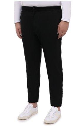Мужские шерстяные брюки MARCO PESCAROLO черного цвета, арт. CHIAIAM/4328   Фото 3 (Big sizes: Big Sizes; Материал внешний: Шерсть; Длина (брюки, джинсы): Стандартные; Случай: Повседневный)