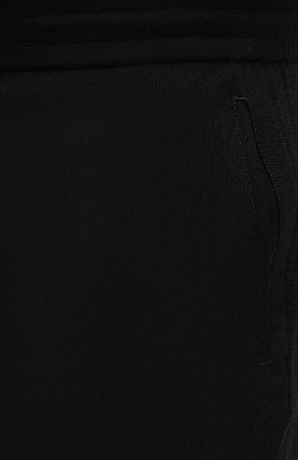 Мужские шерстяные брюки MARCO PESCAROLO черного цвета, арт. CHIAIAM/4328   Фото 5 (Big sizes: Big Sizes; Материал внешний: Шерсть; Длина (брюки, джинсы): Стандартные; Случай: Повседневный)