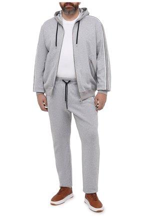 Мужской хлопковая толстовка CORTIGIANI серого цвета, арт. 114613/0000/60-70 | Фото 2