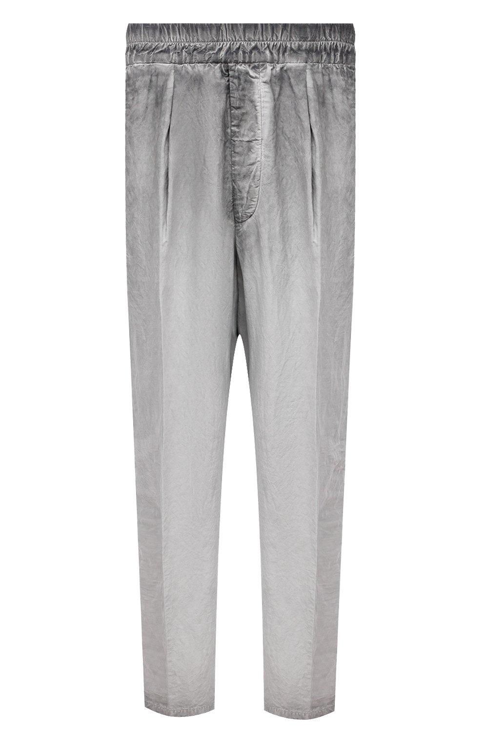 Мужские брюки из вискозы и льна GIORGIO ARMANI серого цвета, арт. 1SGPP0HJ/T02IE | Фото 1