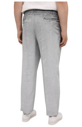 Мужские брюки из вискозы и льна GIORGIO ARMANI серого цвета, арт. 1SGPP0HJ/T02IE | Фото 4