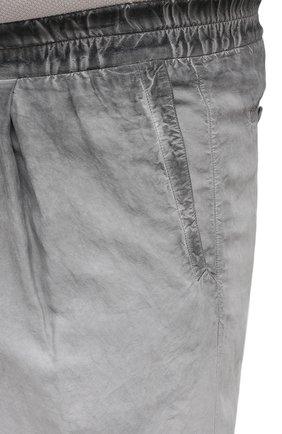 Мужские брюки из вискозы и льна GIORGIO ARMANI серого цвета, арт. 1SGPP0HJ/T02IE | Фото 5