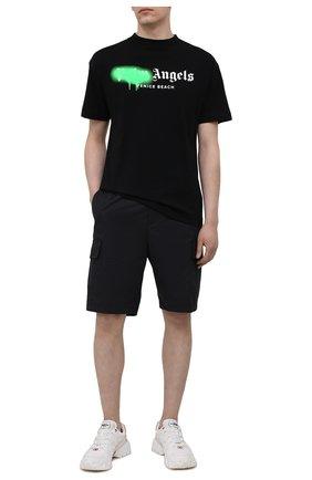 Мужские шорты NEIL BARRETT черного цвета, арт. PBPA831/Q024 | Фото 2