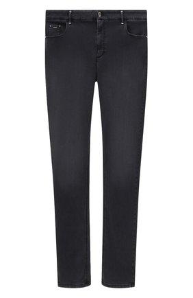 Мужские джинсы ZILLI черного цвета, арт. MCV-00101-SABL1/S001/66-68 | Фото 1 (Кросс-КТ: Деним; Материал внешний: Хлопок, Синтетический материал; Стили: Кэжуэл; Силуэт М (брюки): Прямые; Длина (брюки, джинсы): Стандартные)