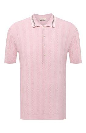 Мужское хлопковое поло ALTEA розового цвета, арт. 2151049 | Фото 1