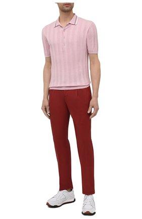 Мужское хлопковое поло ALTEA розового цвета, арт. 2151049 | Фото 2