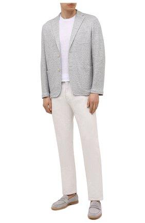 Мужская льняная футболка ALTEA белого цвета, арт. 2155219 | Фото 2