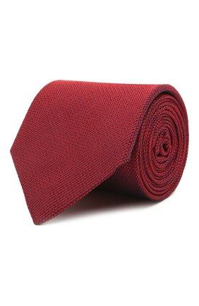 Мужской шелковый галстук LUIGI BORRELLI красного цвета, арт. LC80/T9199 | Фото 1