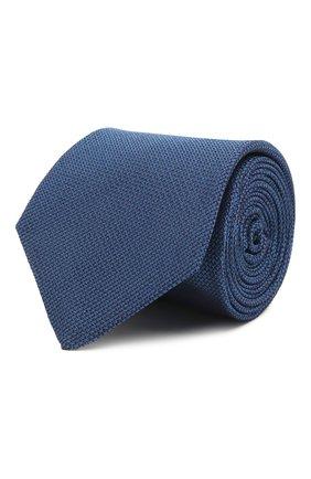 Мужской шелковый галстук LUIGI BORRELLI синего цвета, арт. LC80/T9199 | Фото 1