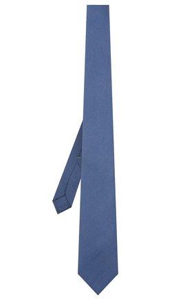 Мужской шелковый галстук LUIGI BORRELLI синего цвета, арт. LC80/T9199 | Фото 2