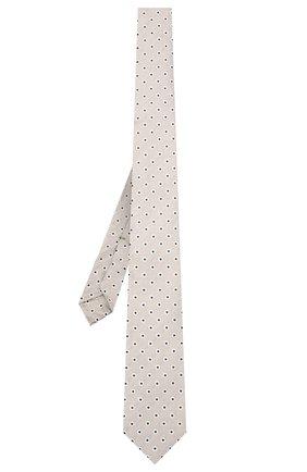 Мужской галстук из шелка и льна LUIGI BORRELLI серого цвета, арт. LC80/T31205 | Фото 2
