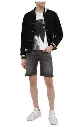 Мужская хлопковая футболка RH45 белого цвета, арт. JS16 | Фото 2 (Материал внешний: Хлопок; Длина (для топов): Стандартные; Рукава: Короткие; Принт: С принтом)