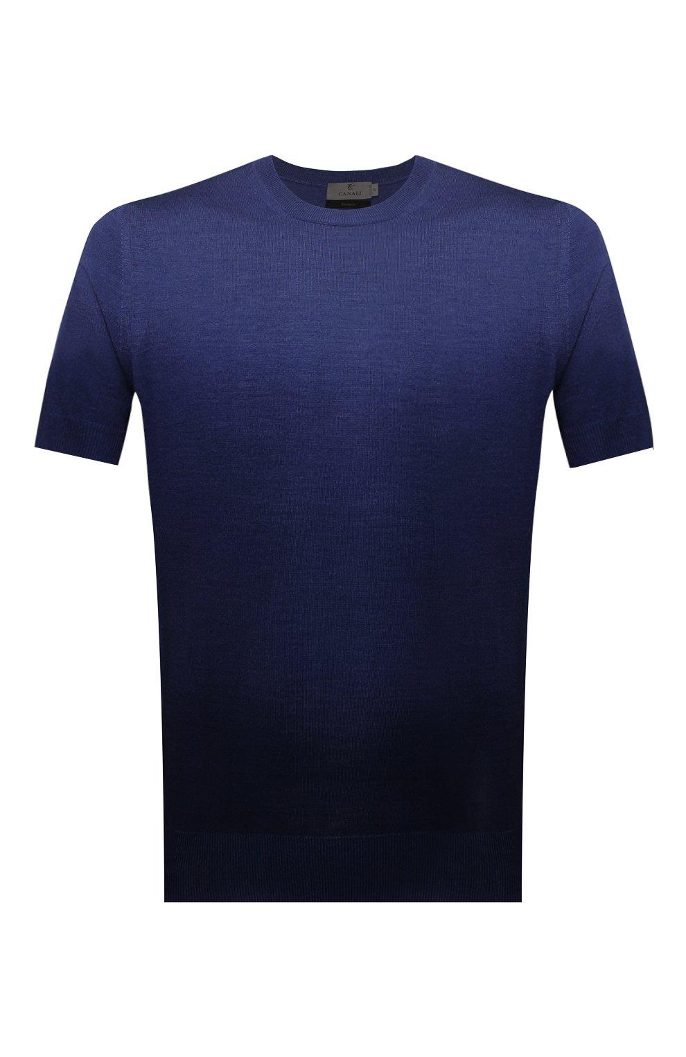 Мужской джемпер из шерсти и шелка CANALI темно-синего цвета, арт. C0719/MX01166 | Фото 1