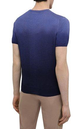 Мужской джемпер из шерсти и шелка CANALI темно-синего цвета, арт. C0719/MX01166 | Фото 4