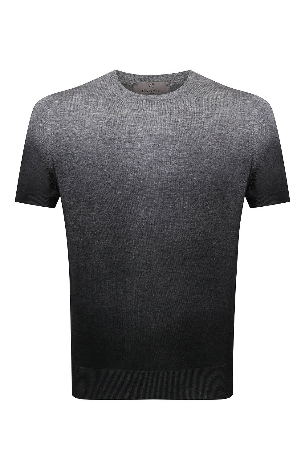 Мужской джемпер из шерсти и шелка CANALI серого цвета, арт. C0719/MX01166   Фото 1