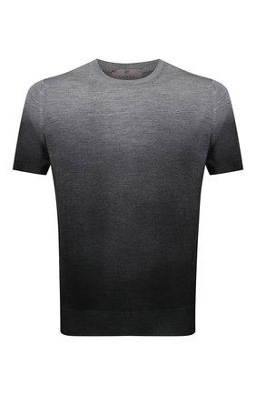 Мужской джемпер из шерсти и шелка CANALI серого цвета, арт. C0719/MX01166 | Фото 1