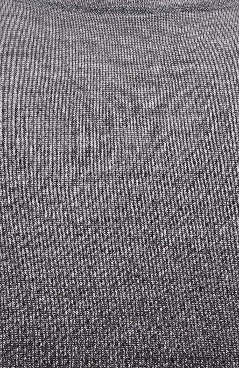 Мужской джемпер из шерсти и шелка CANALI серого цвета, арт. C0719/MX01166   Фото 5