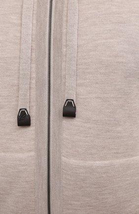 Мужской двусторонняя толстовка BRIONI бежевого цвета, арт. UMHX0L/P0K03   Фото 5