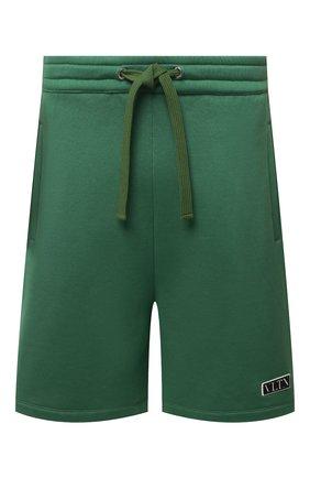 Мужские хлопковые шорты VALENTINO зеленого цвета, арт. VV0MD02D7FH | Фото 1