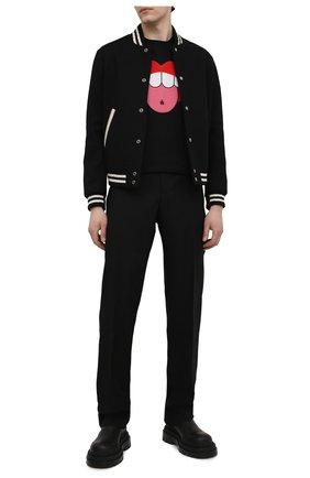 Мужская хлопковая футболка LANVIN черного цвета, арт. RM-TS0002-J015-E21 | Фото 2