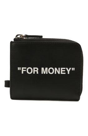 Мужской кожаный кошелек для монет OFF-WHITE черно-белого цвета, арт. 0MNC021S21LEA001 | Фото 1