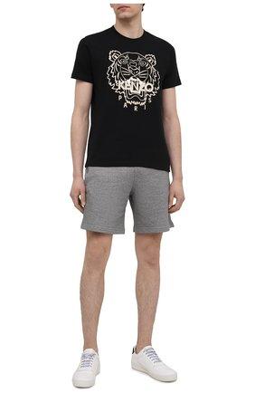 Мужская хлопковая футболка KENZO черного цвета, арт. FB55TS0204SF | Фото 2
