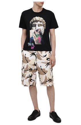 Мужские хлопковые шорты KENZO бежевого цвета, арт. FB55SH2341PC | Фото 2
