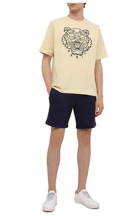 Мужские хлопковые шорты KENZO темно-синего цвета, арт. FB55PA7274ML | Фото 2