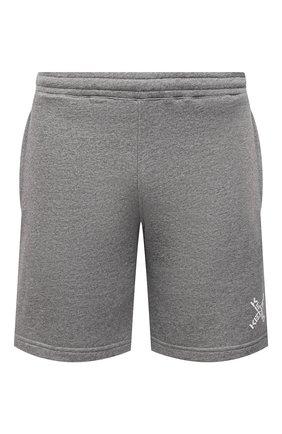 Мужские хлопковые шорты kenzo sport KENZO серого цвета, арт. FA65PA7204MS | Фото 1 (Длина Шорты М: До колена; Материал внешний: Хлопок; Принт: Без принта; Кросс-КТ: Трикотаж)