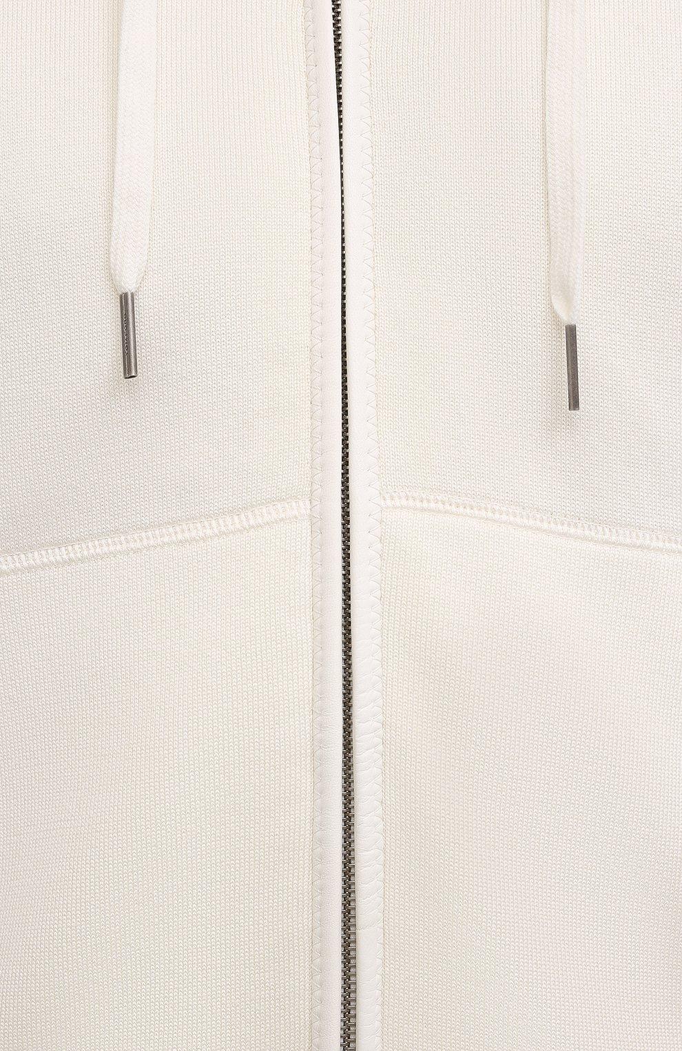 Мужской толстовка из хлопка и шелка TOM FORD кремвого цвета, арт. BWT21/TFK357 | Фото 5