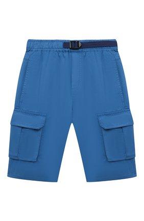 Детские хлопковые шорты STELLA MCCARTNEY синего цвета, арт. 602328/SQK01 | Фото 1