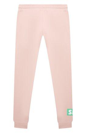 Детские хлопковые джоггеры STELLA MCCARTNEY розового цвета, арт. 602608/SQJ06 | Фото 2