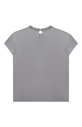 Детская хлопковая футболка BRUNELLO CUCINELLI светло-серого цвета, арт. B0A45T030C | Фото 2