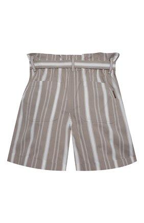 Детские хлопковые шорты BRUNELLO CUCINELLI серого цвета, арт. BF788P032C | Фото 2