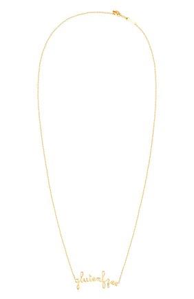 Женские колье PERSEE PARIS бесцветного цвета, арт. N7362-YG | Фото 1 (Драгоценные камни: Бриллианты; Материал сплава: Желтое золото)