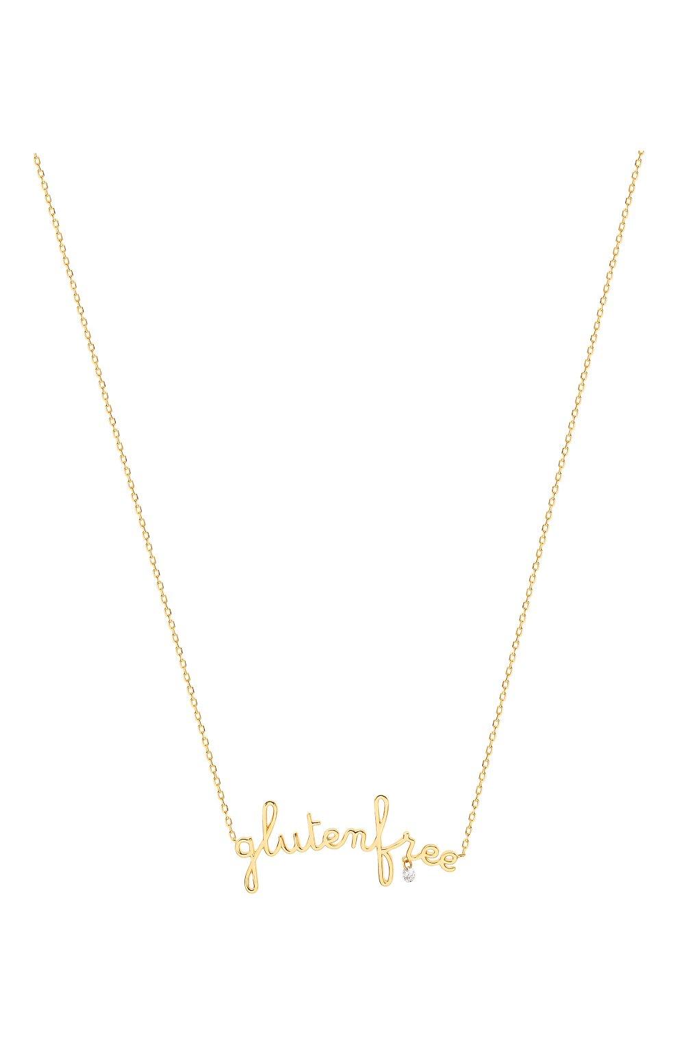 Женские колье PERSEE PARIS бесцветного цвета, арт. N7362-YG | Фото 2 (Драгоценные камни: Бриллианты; Материал сплава: Желтое золото)