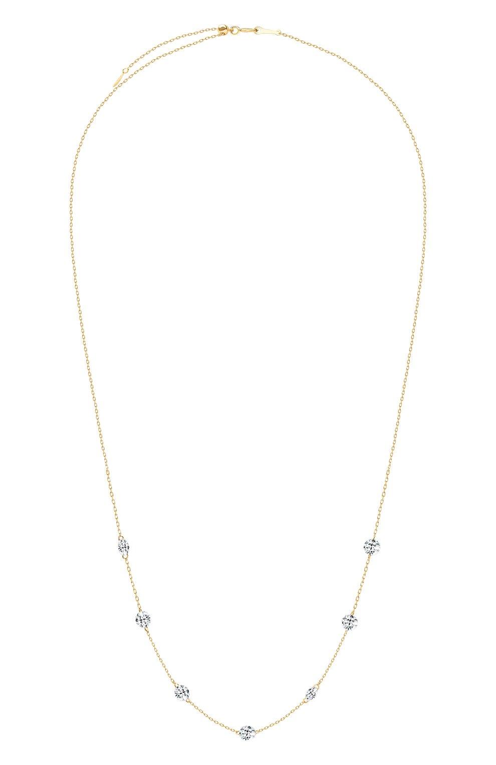 Женские колье PERSEE PARIS бесцветного цвета, арт. N6441-YG | Фото 1 (Драгоценные камни: Бриллианты; Материал сплава: Желтое золото)