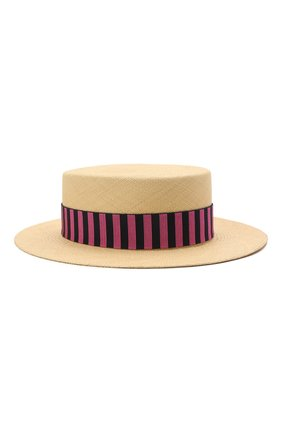 Женская соломенная шляпа MAISON MICHEL светло-бежевого цвета, арт. 1041081001/KIKI | Фото 1