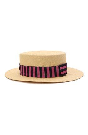 Женская соломенная шляпа MAISON MICHEL светло-бежевого цвета, арт. 1041081001/KIKI | Фото 2