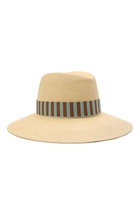 Женская соломенная шляпа MAISON MICHEL светло-бежевого цвета, арт. 1009061001/KATE | Фото 1
