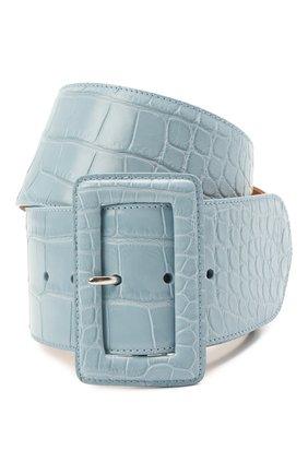 Женский кожаный ремень RALPH LAUREN синего цвета, арт. 408725741/AMIS | Фото 1