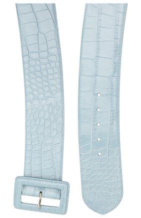Женский кожаный ремень RALPH LAUREN синего цвета, арт. 408725741/AMIS | Фото 2
