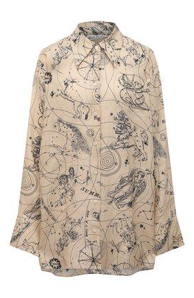 Женская льняная рубашка ACNE STUDIOS бежевого цвета, арт. AC0350   Фото 1