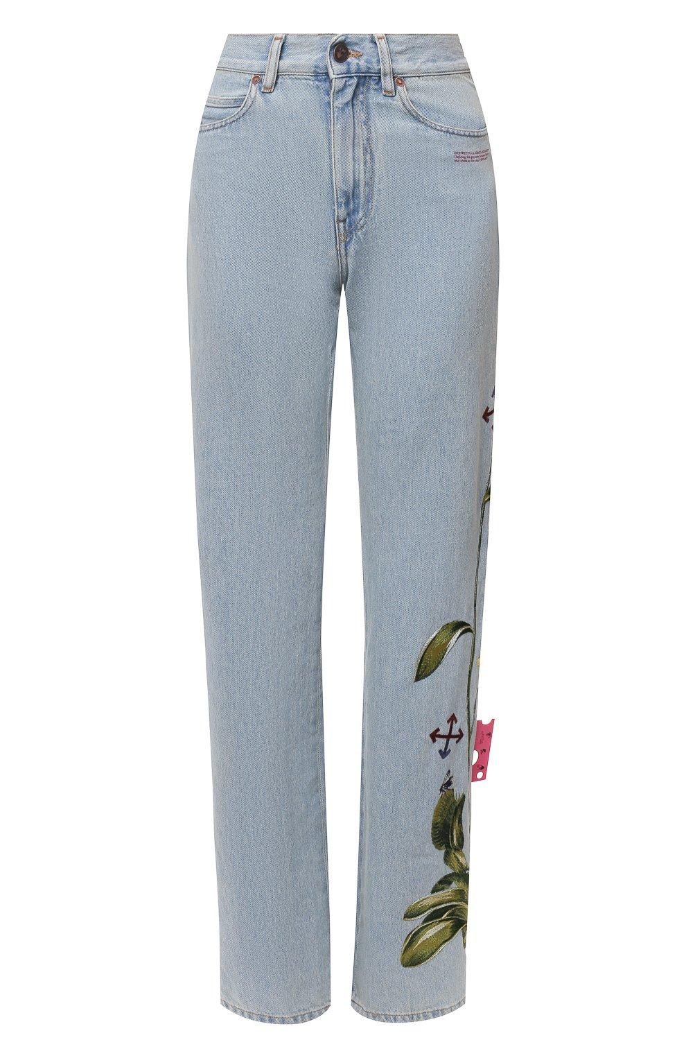 Женские джинсы OFF-WHITE голубого цвета, арт. 0WYA020S21DEN003 | Фото 1